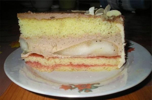 Домашняя выпечка. Шоколадный торт с грушами.