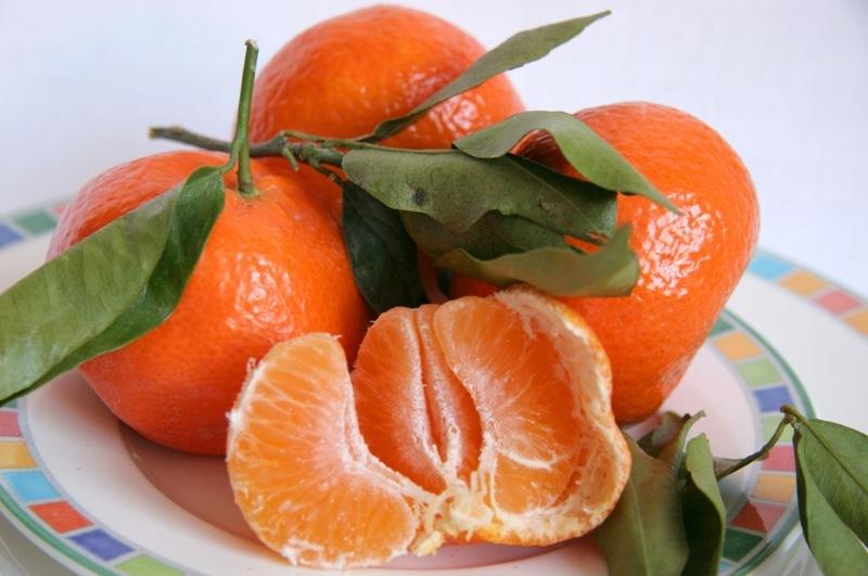 Овощи и фрукты. Мандарины.