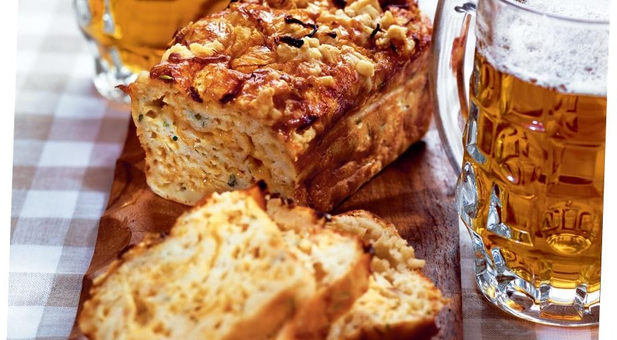 onion cake with cheese