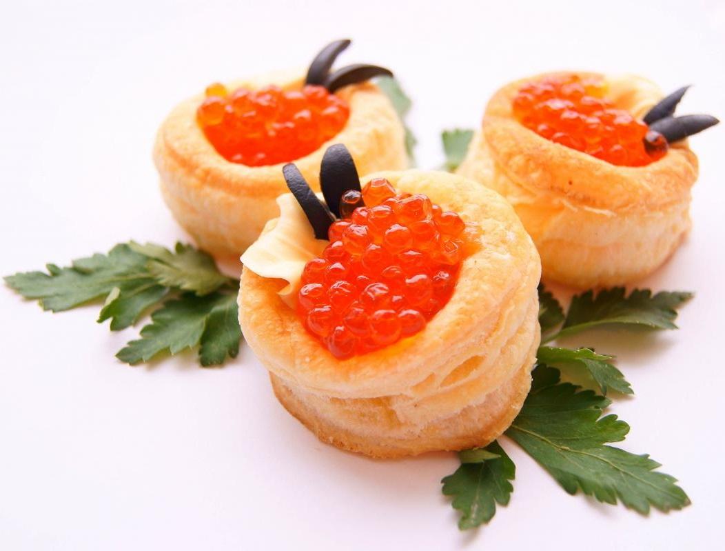 volovan with caviar