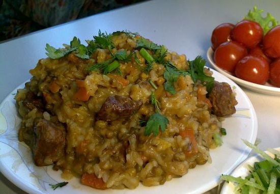 porridge easy rice and Mary with meat